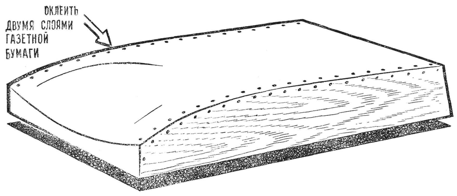 Fig. 3. The dummy for bonding hull