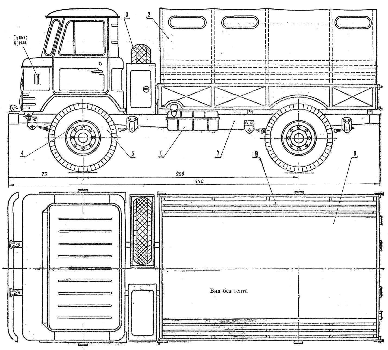 Fig. 1. Car model GAZ-66