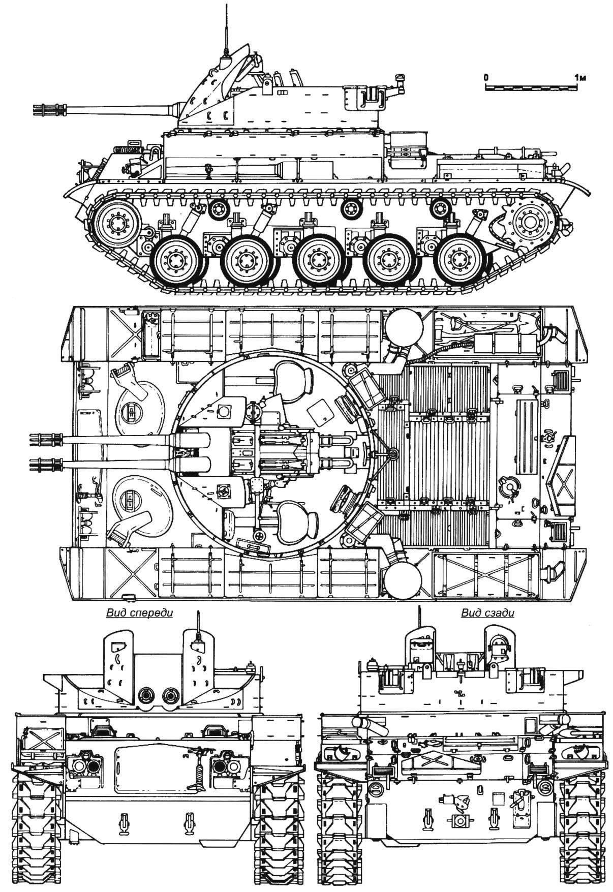 Layout ZSU M42