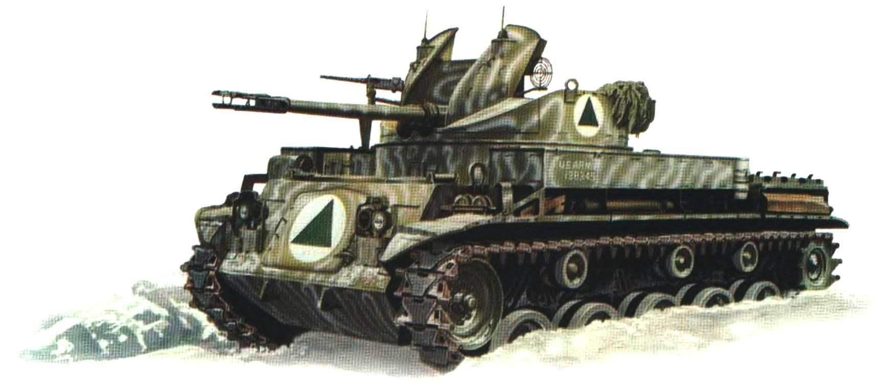 Зенитная самоходная установка М42 из состава 23-й пехотной дивизии армии США. Маневры Willow Freeze, Аляска, январь 1961 года