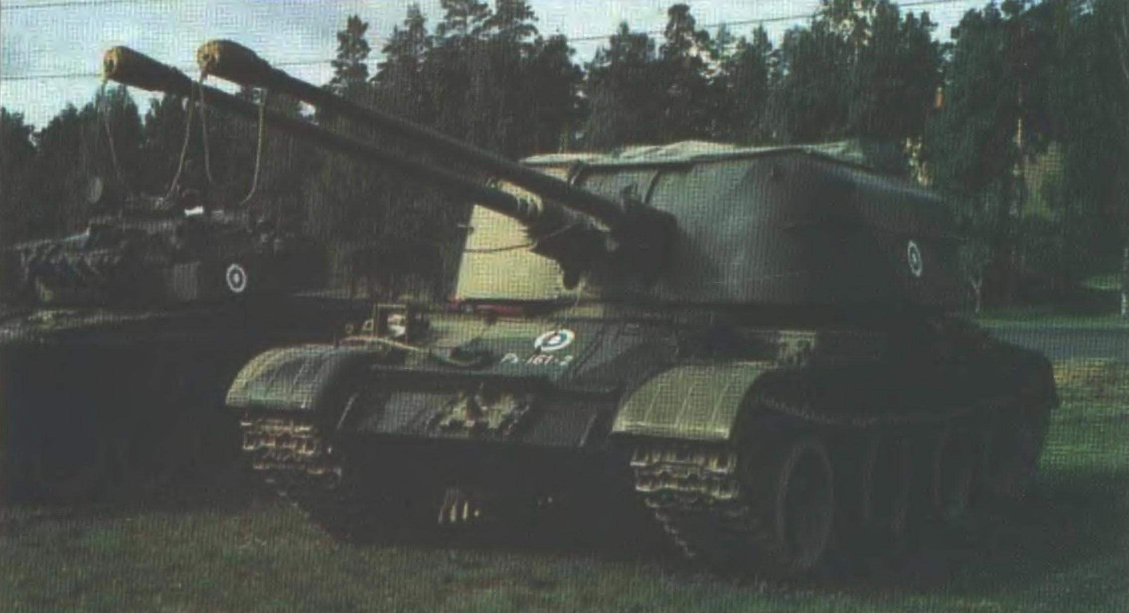 Self-propelled anti-aircraft weapon ZSU-57-2 of the Finnish army. Armed with air defense units of the country ZSU-57-2 were from 1960 to 1985