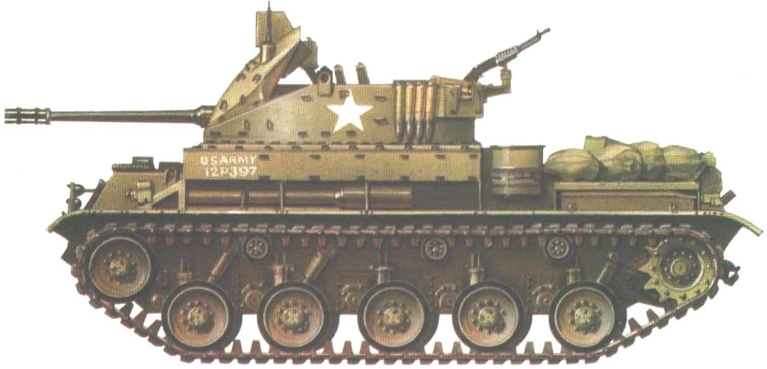 Зенитная самоходная установка М42А1. 1-й батальон 44-го артиллерийского полка армии США. Вьетнам, 1969 год