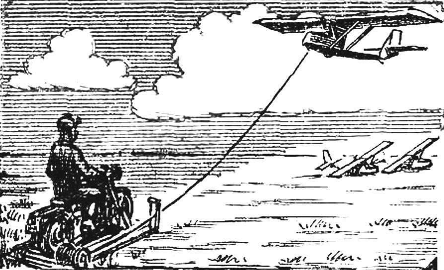 Рис. 3. Мотолебедка конструкции А. Дабахова.