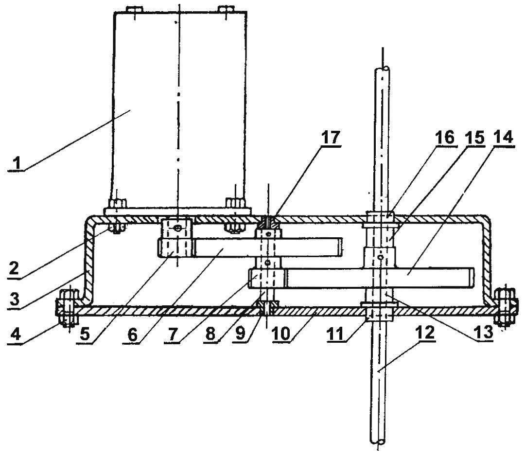 Силовая установка модели парохода
