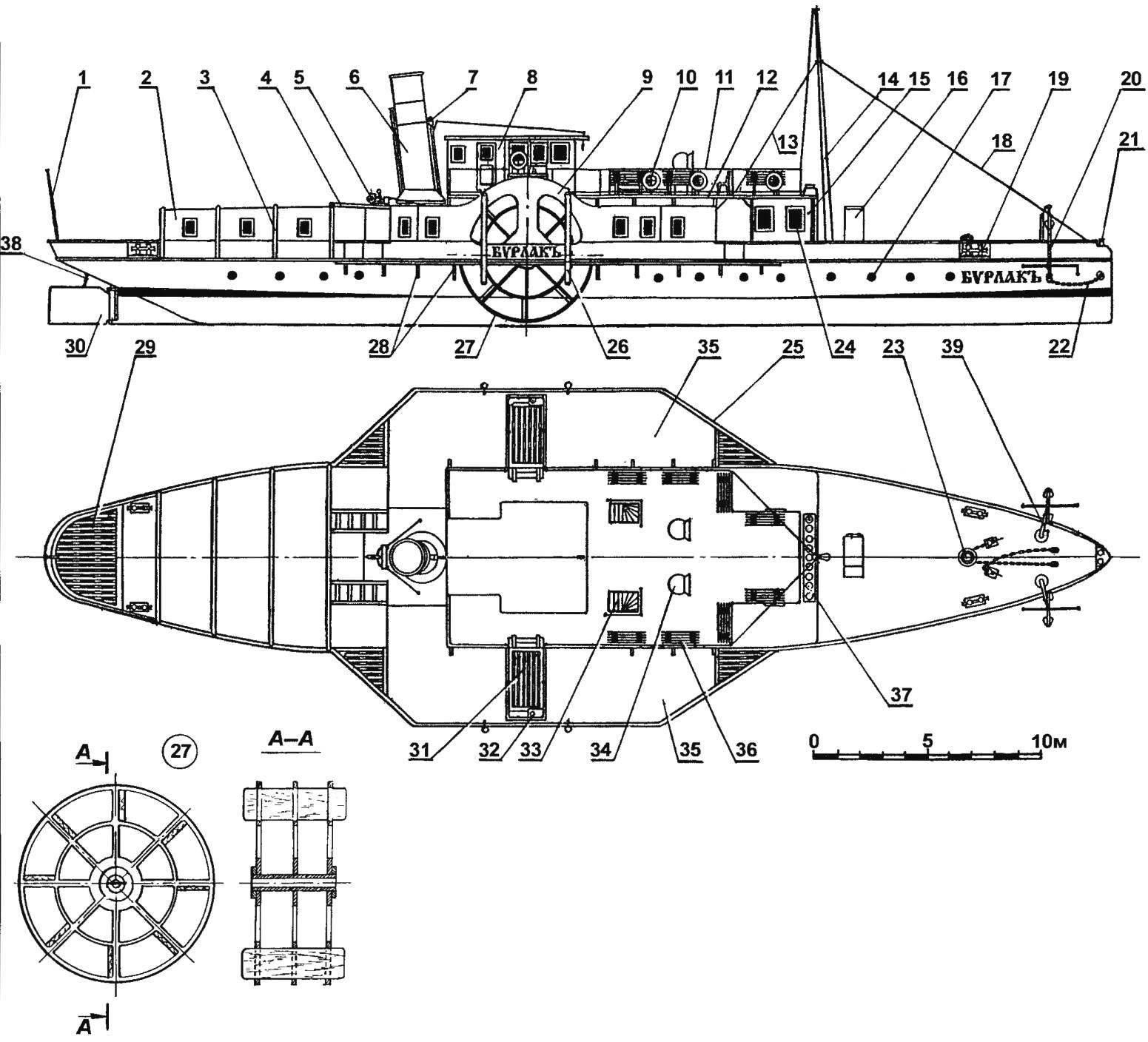 Товаро-пассажирский колесный пароход «БУРЛАКЪ»