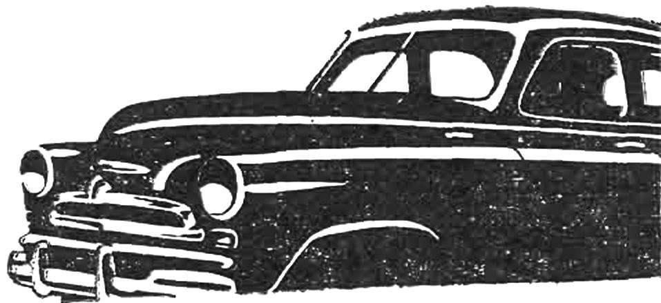 Так выглядел радиатор после 1955 года.