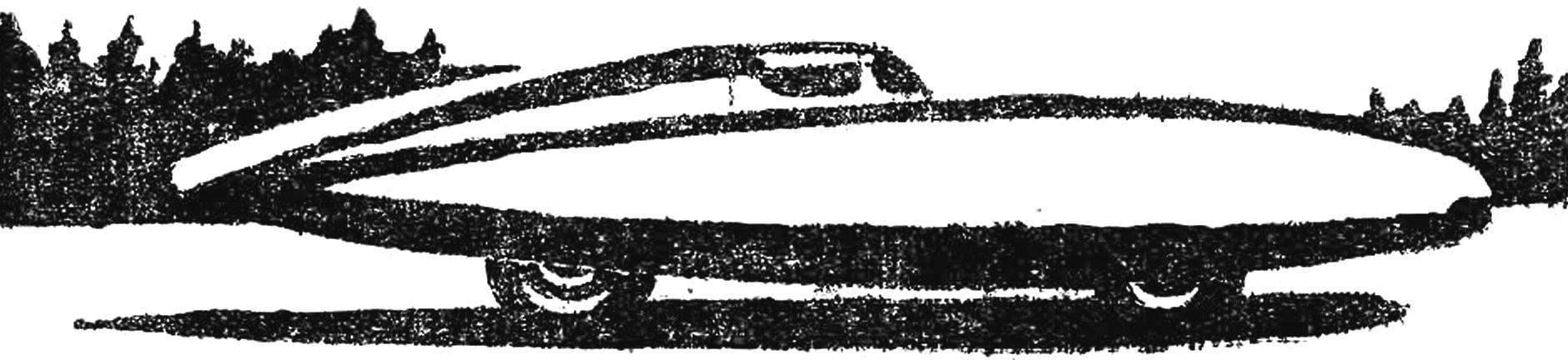 Racing car GAZ 1951, built on the basis of units of
