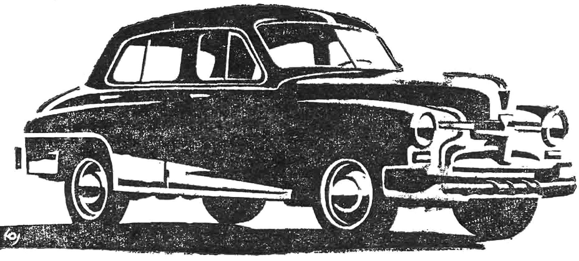 Вариант модернизации «Победы» (1948 г.).