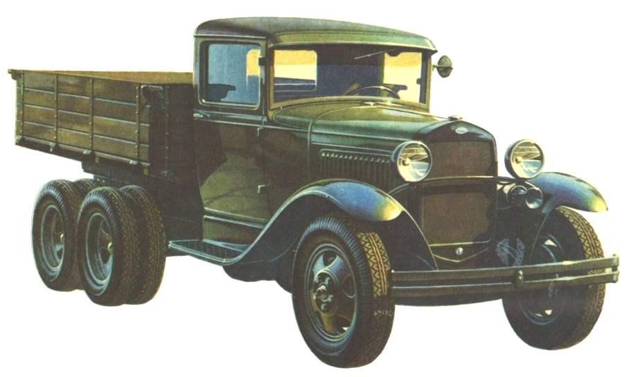 ГАЗ-ААА — трехосный вариант «полуторки» Горьковского автозавода выпуска 1934 года