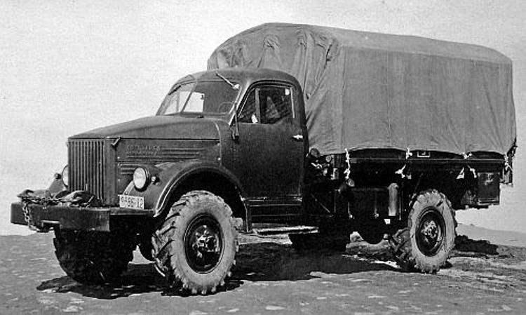 Полноприводной грузовой автомобиль ГАЗ-63 образца 1948 года