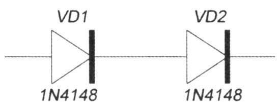 Рис. 8. Электрическая схема соединения диодов в качестве ограничения тока