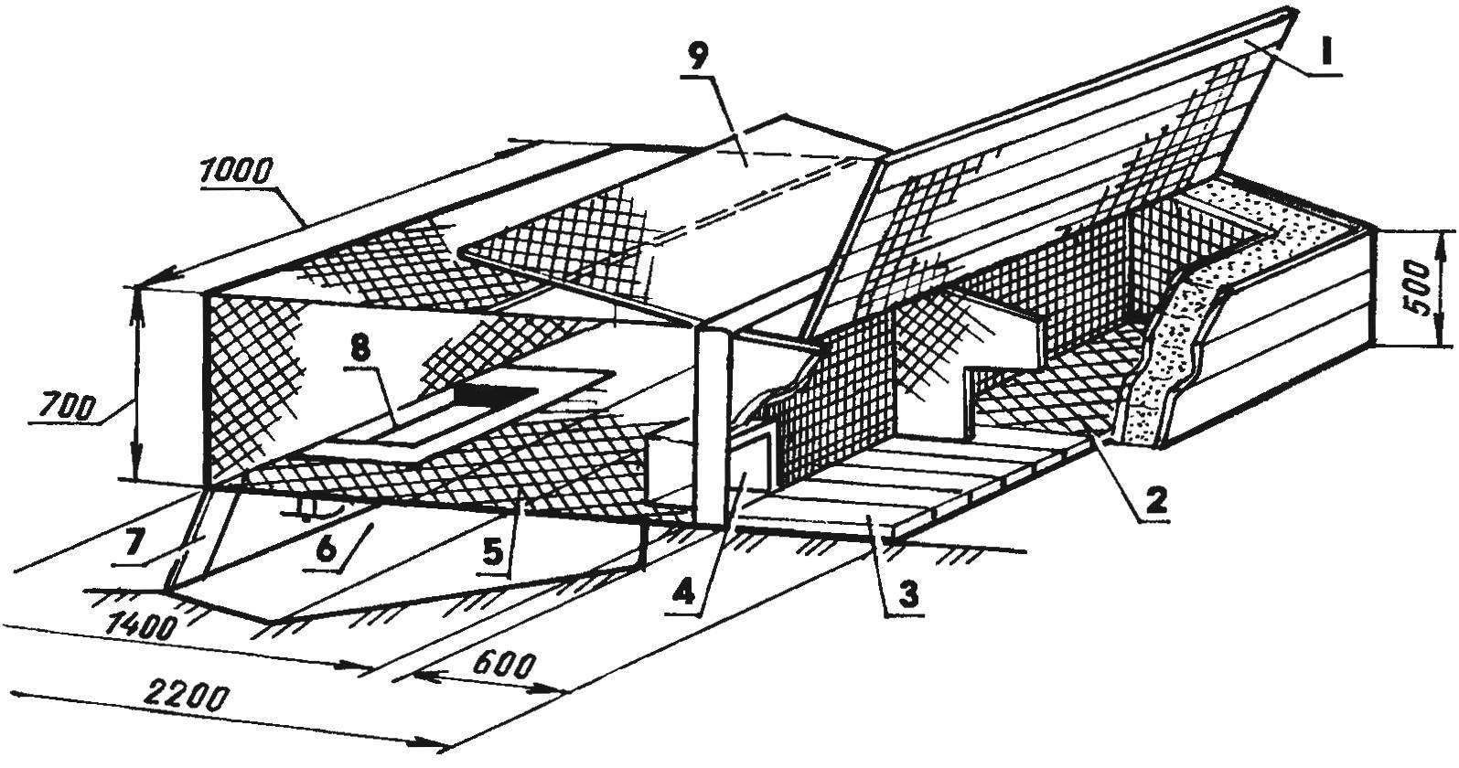 Fig. 1. The option of wooden house-