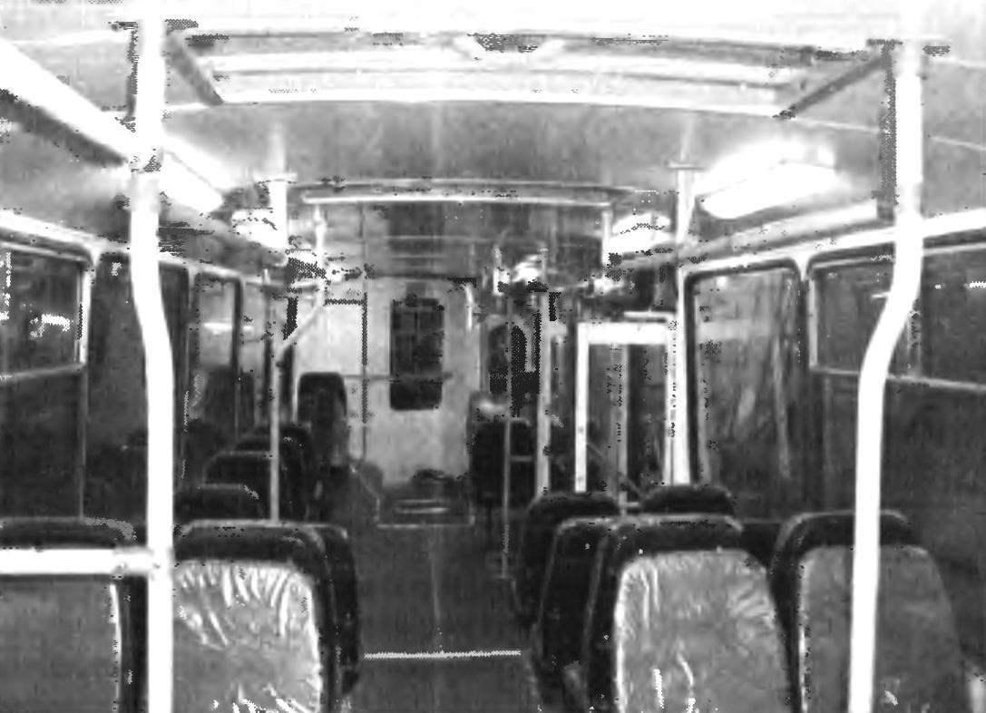 Салон троллейбуса МТРЗ-5279.02