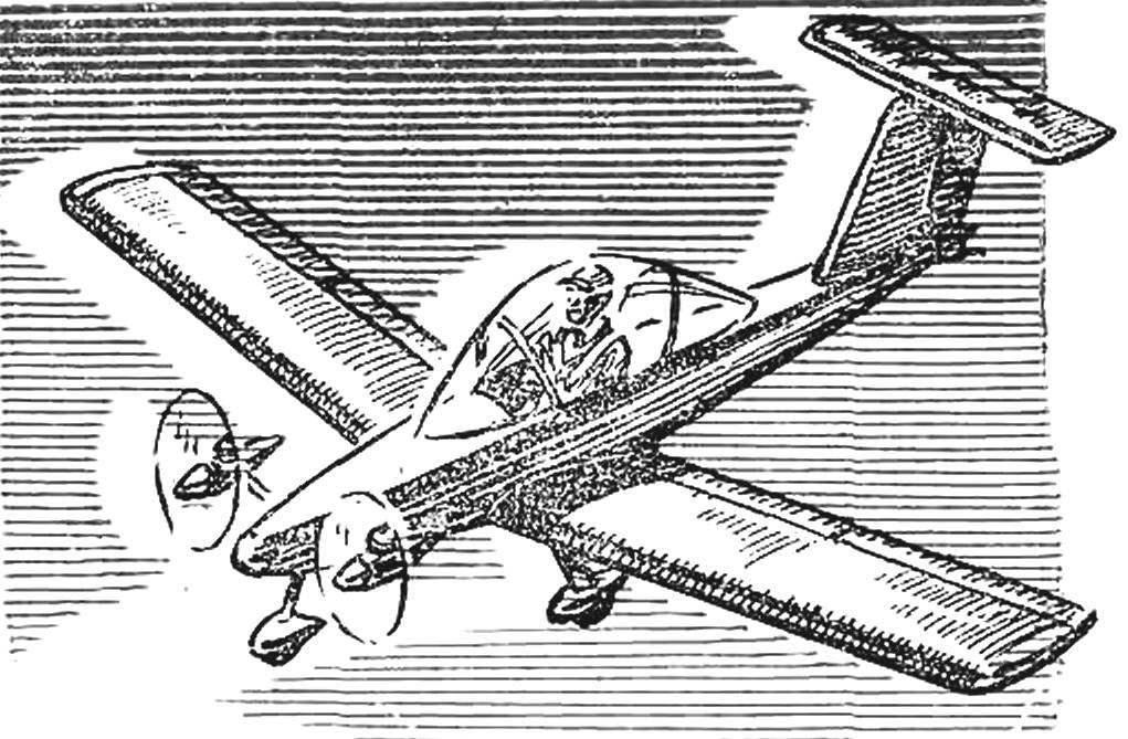 «КРИ-КРИ» — самый маленький в мире двухмоторный самолет французского конструктора-любителя Мишеля Коломбана. Весит всего 65 кг благодаря применению синтетических материалов.