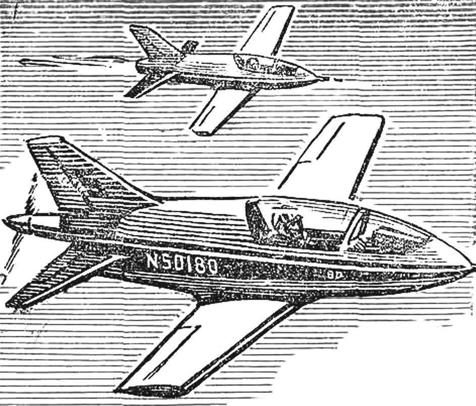 «BD» («Беде») — самолет Джеймса Беде (США), получивший название «крылатая пуля», развивает скорость в поршневом варианте 285 км/ч, реактивном — 450 км/ч.