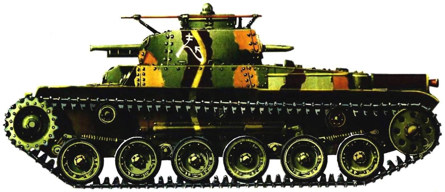 Средний танк «Чи-ха». 1 -й танковый полк, Малайя, декабрь 1941 г.