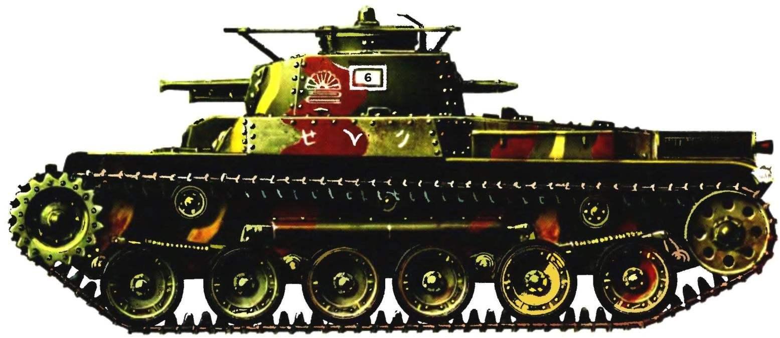 Средний танк «Чи-ха». 6-я рота 9-го танкового полка, Филиппины, о.Сайпан, июнь 1944 г.