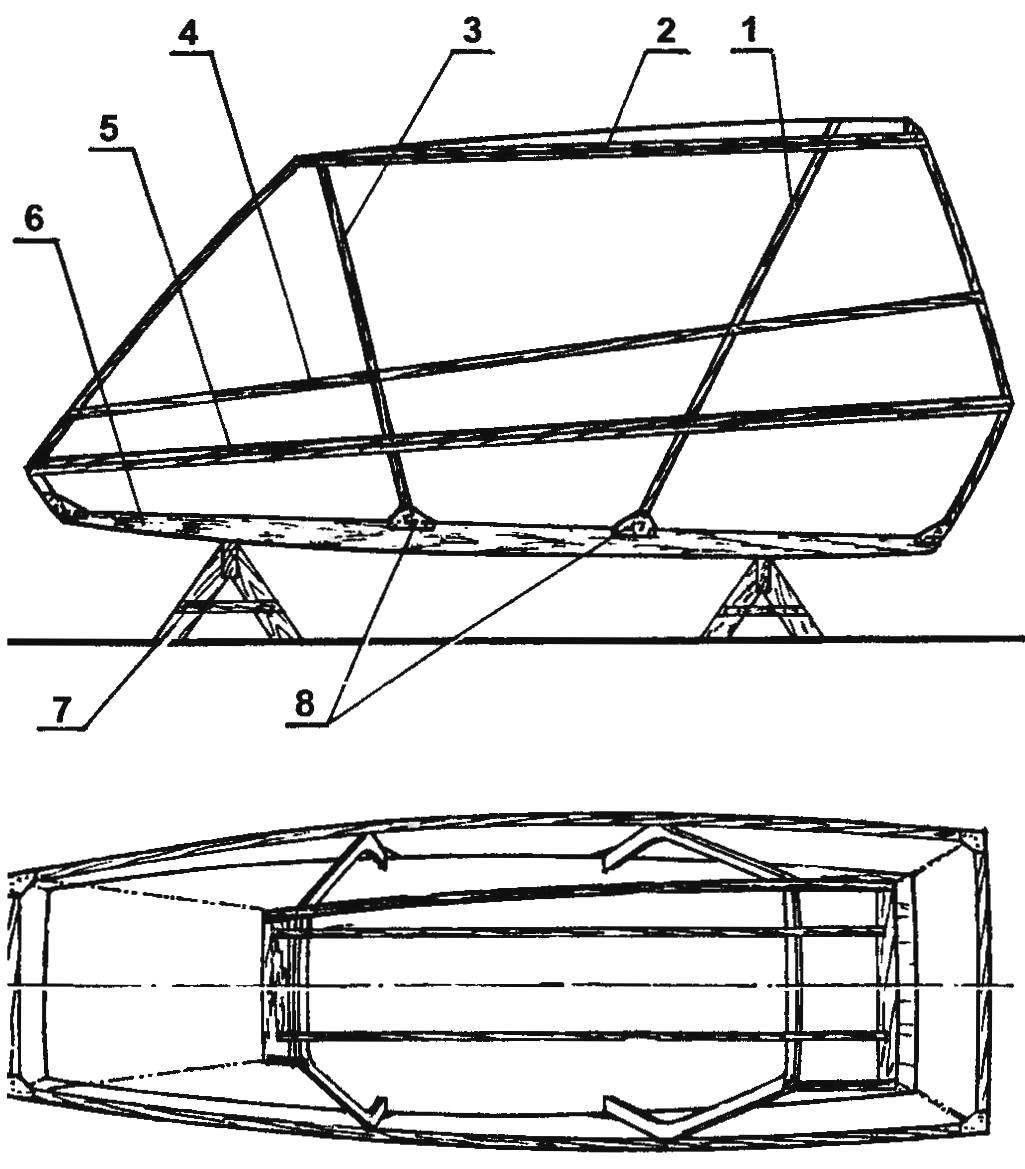 Схема сборки каркаса кабины
