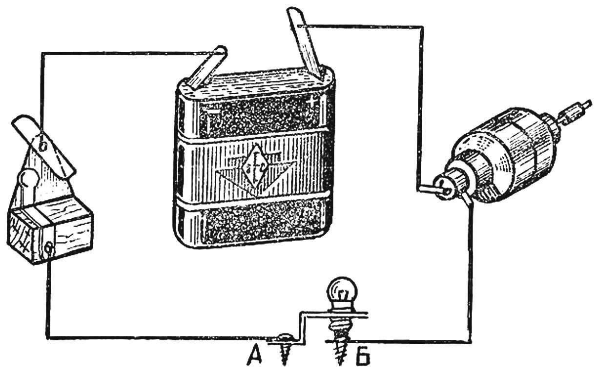 Электрическая схема модели.