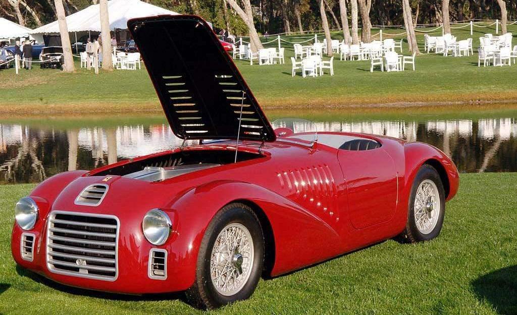 FERRARI 125S выпуска 1947 года — первый дорожный автомобиль фирмы Ferrari, сделанный персонально для князя И.Трубецкого