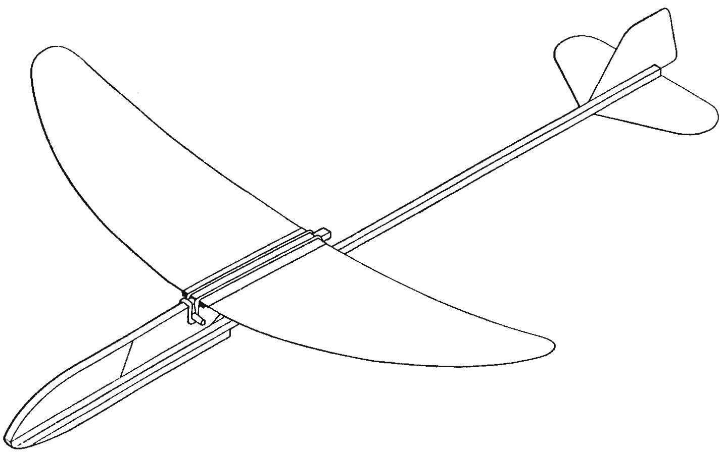 Model of throwing a glider type