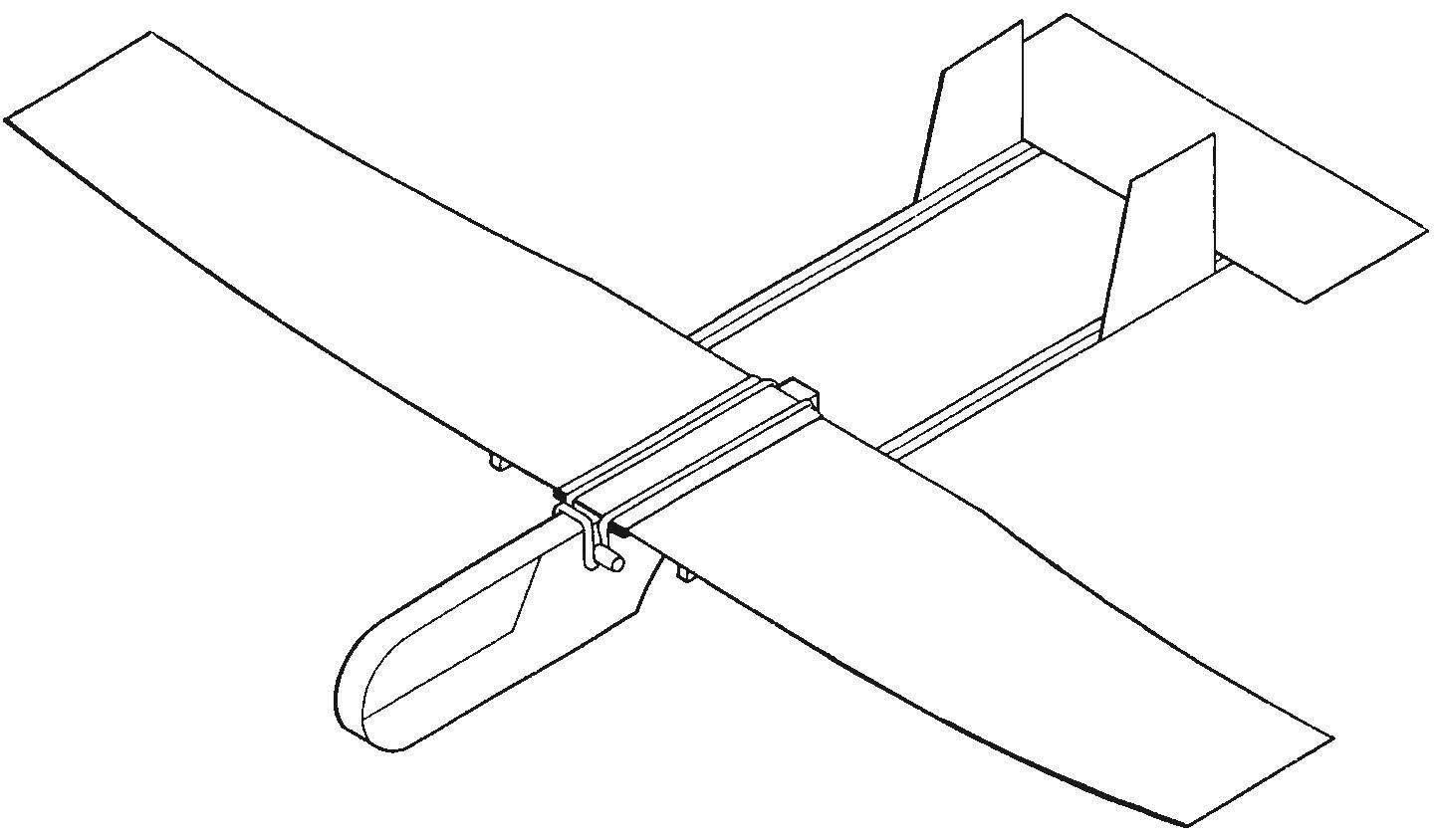 Модель метательного планера типа «Юниор»