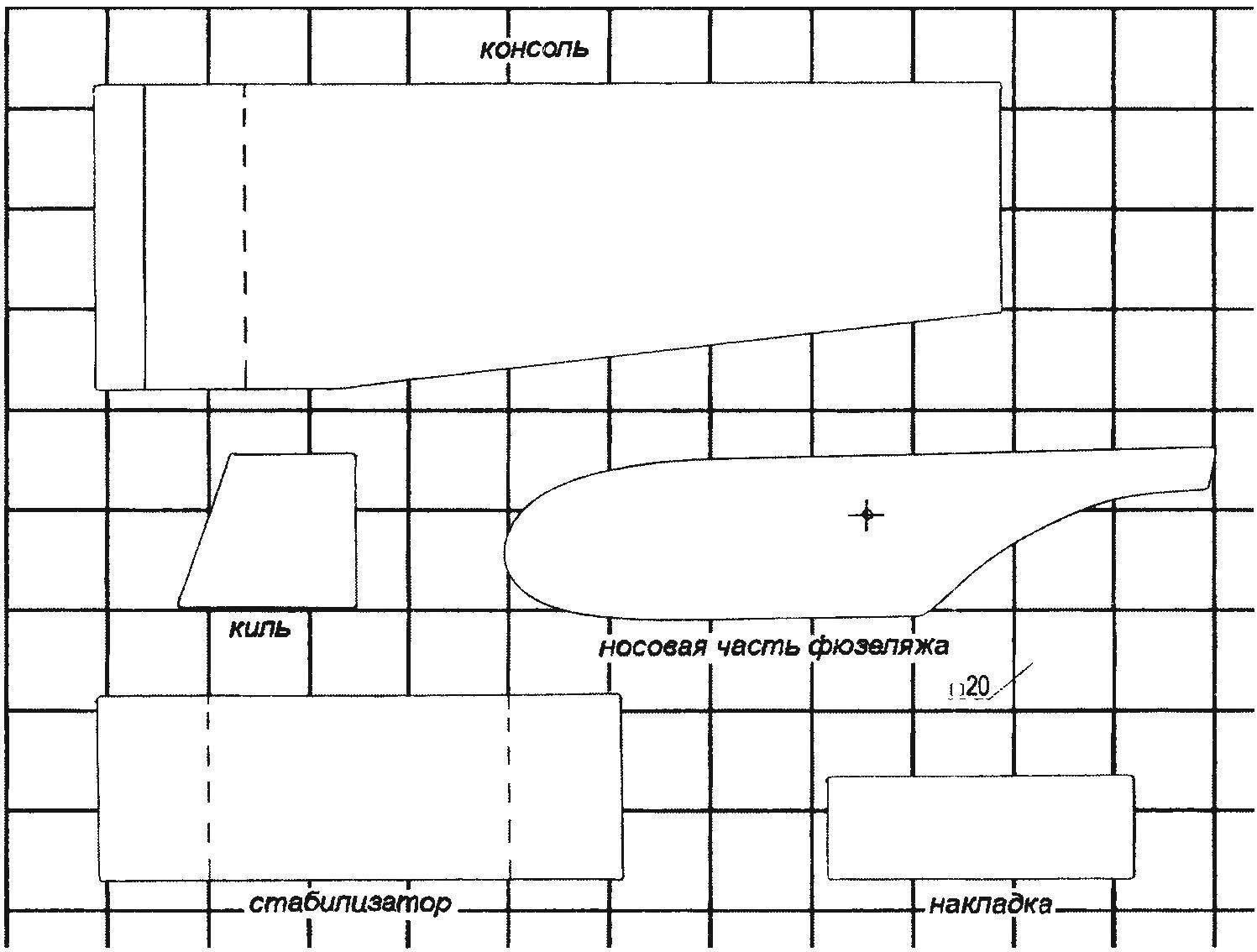Контуры основных элементов модели