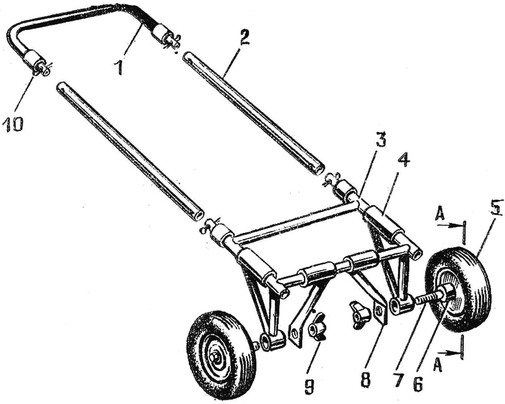 Fig. 2. Collapsible cart for kayaks