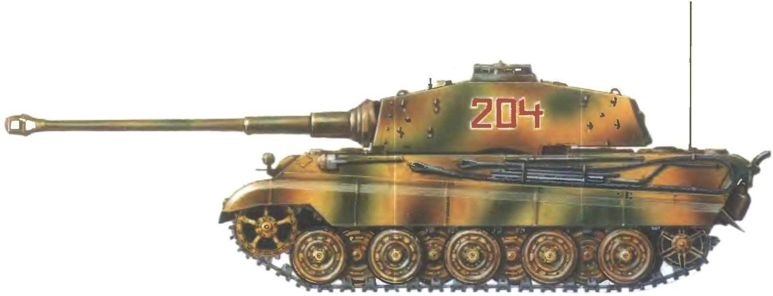 Pz. VI Ausf. В. 502-й тяжелый танковый батальон СС. Восточный фронт, 1945 год