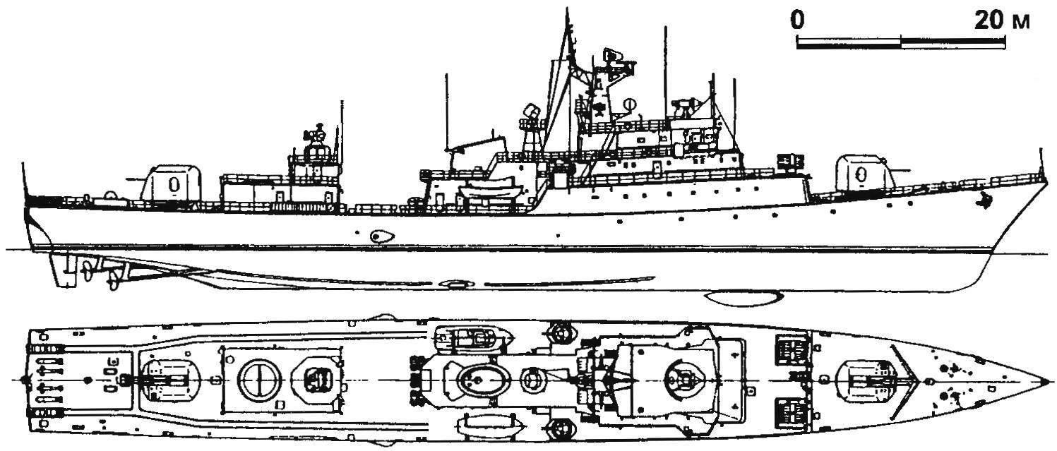 60. Сторожевой корабль «Дельфин» (проект 1159), СССР, 1975 г.