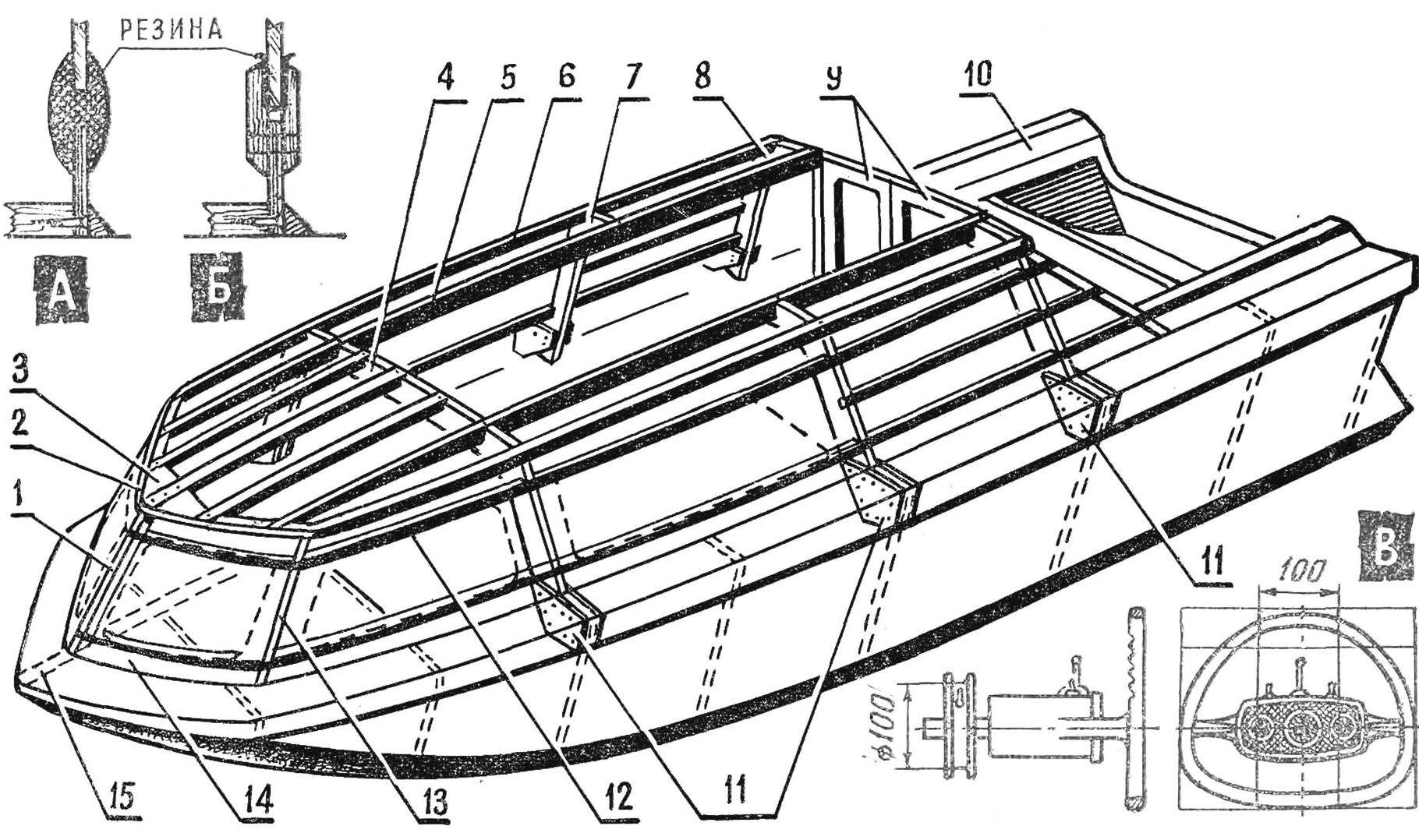 Fig. 2. The design of the superstructure (cabins)