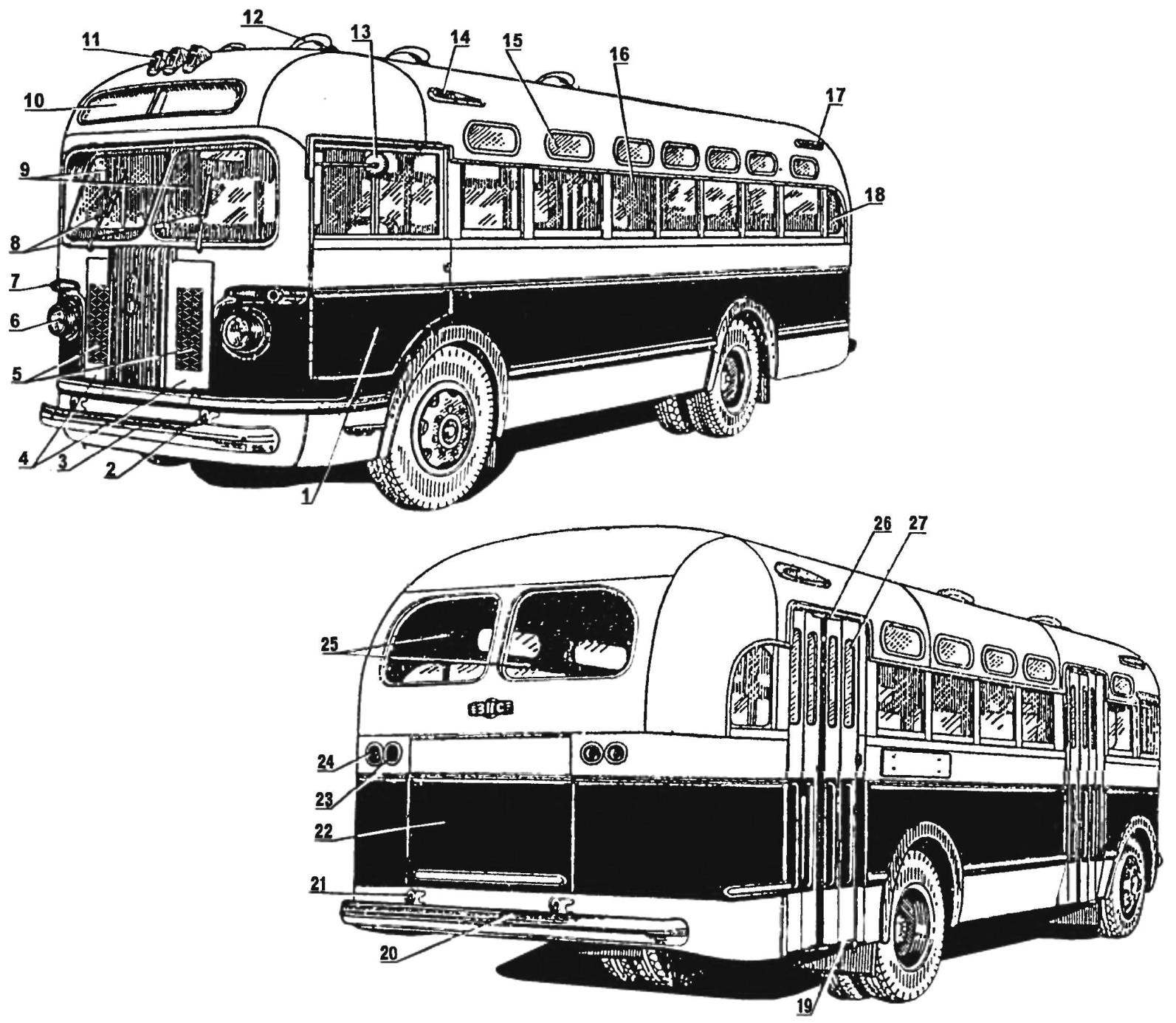 Внешний вид автобуса ЗиС-155
