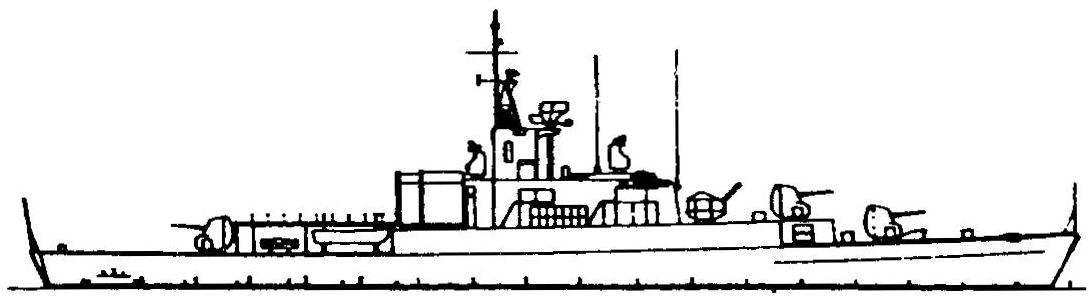 51. Фрегат «Луиджи Риццо», Италия, 1961 г.