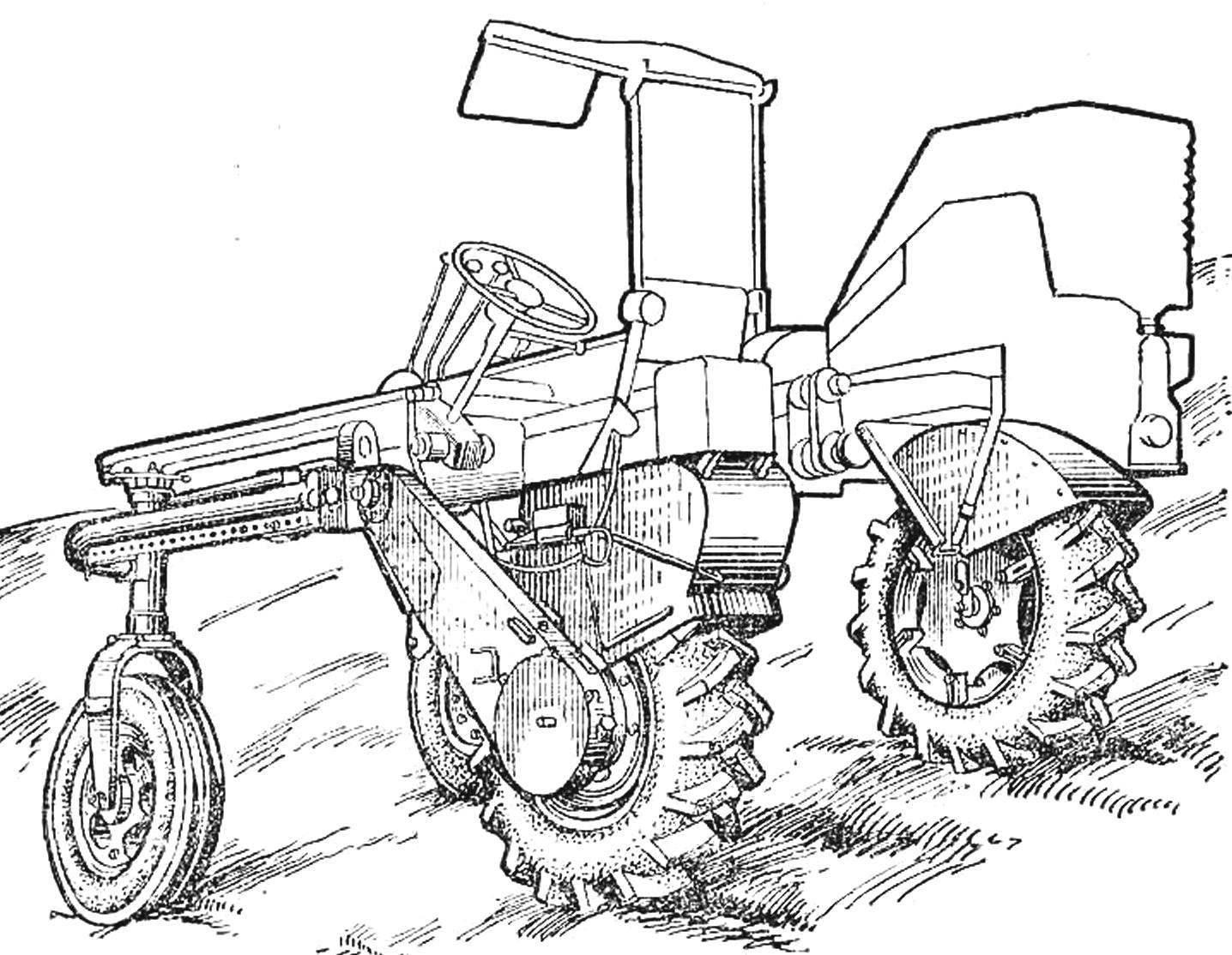 Рис. 5. Горно-равнинное самоходное шасси СШ-0611.