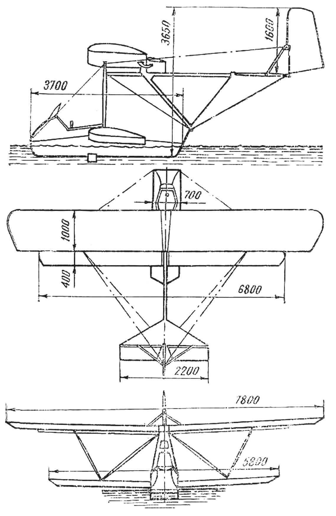 Гидропланер БРО-16
