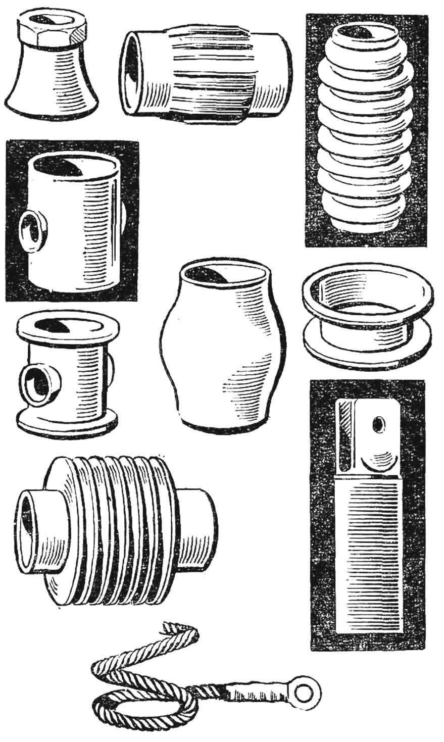 Рис. 6. Образцы деталей, получаемых методом магнитной штамповки.