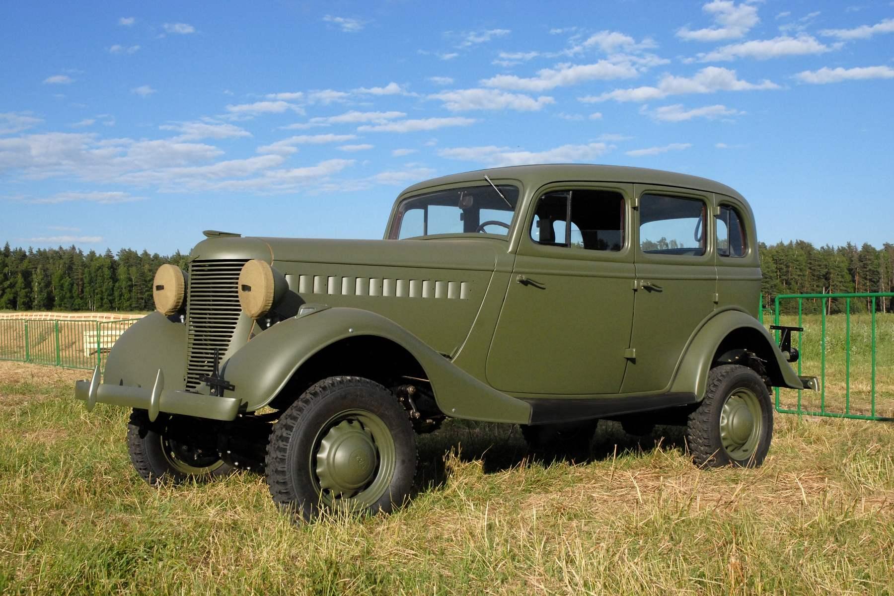 Первый отечественный легковой внедорожник ГАЗ-61 (1941 г.)