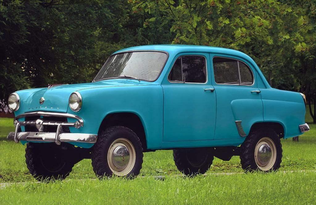 Комфортабельный джип-малолитражка «Москвич-410» производства МЗМА (1957 г.)