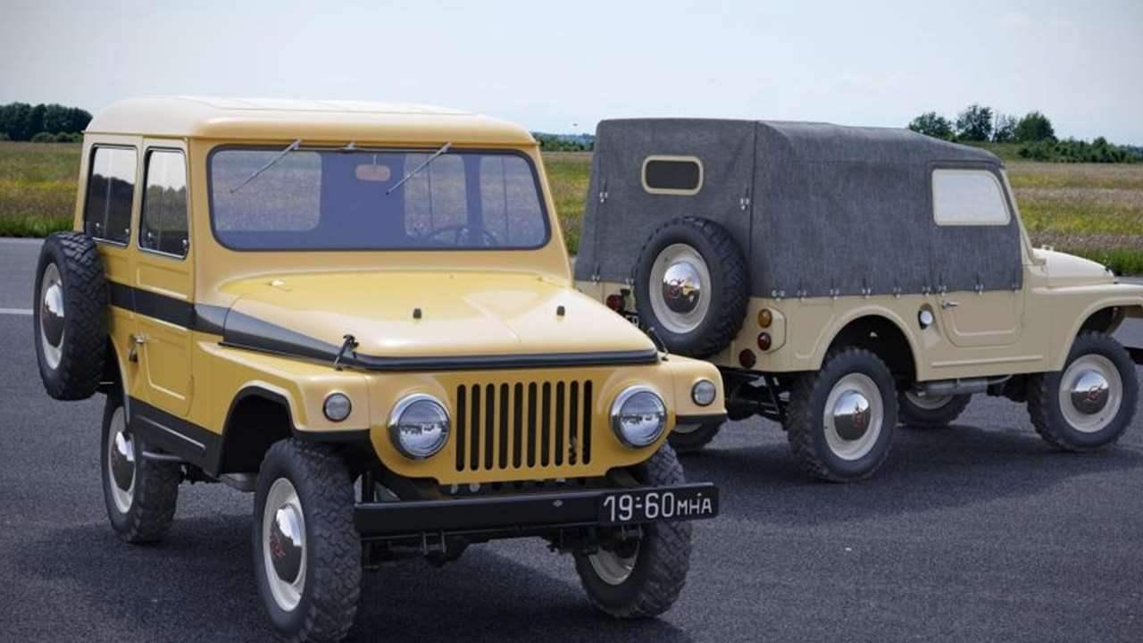 Экспериментальный «Москвич-416» на базе полноприводного автомобиля «Москвич-410Н (юнец 1950-х гг.)