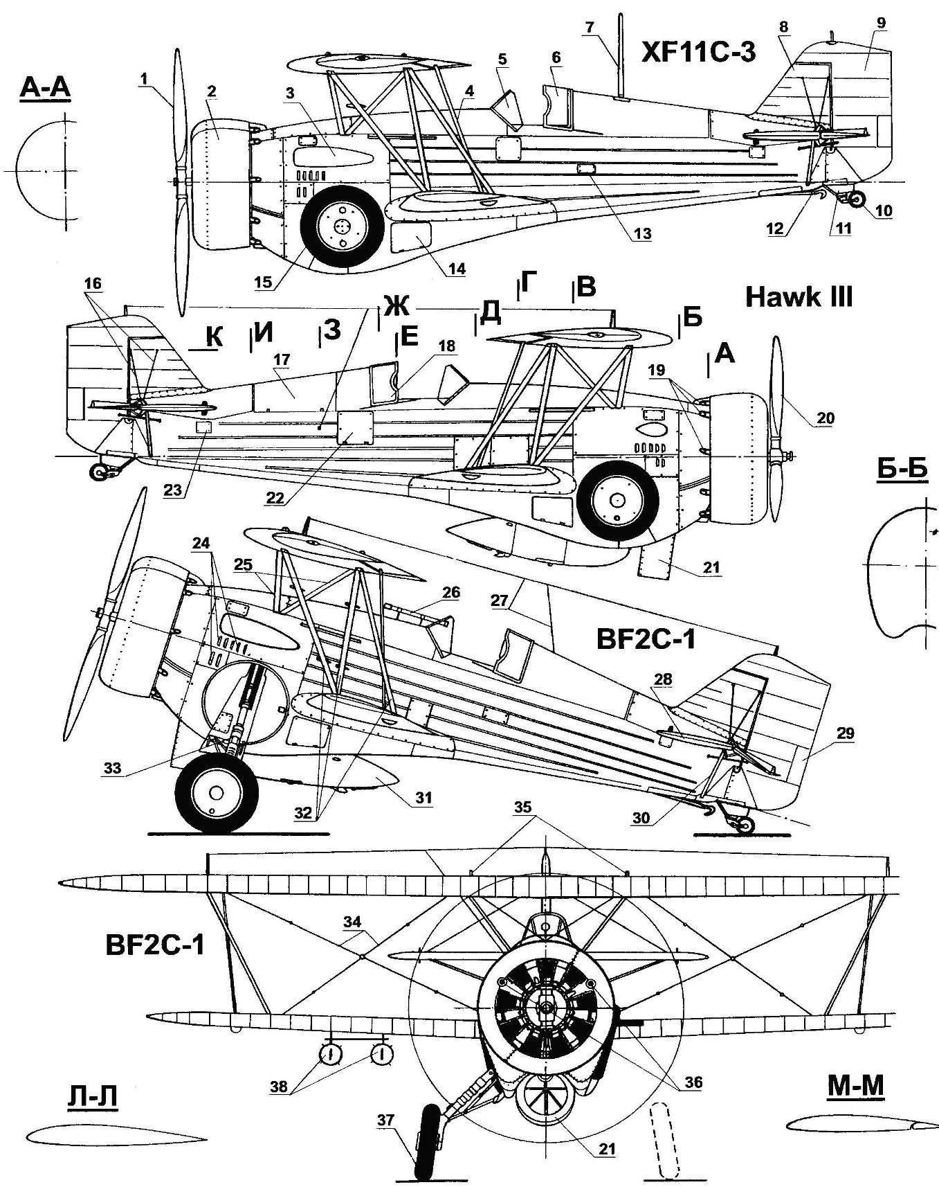 Истребитель-бомбардировщик BF2C-1