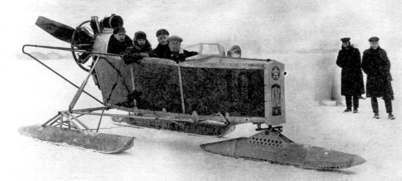 Аэросани КАС-V в пробеге 1926 г.