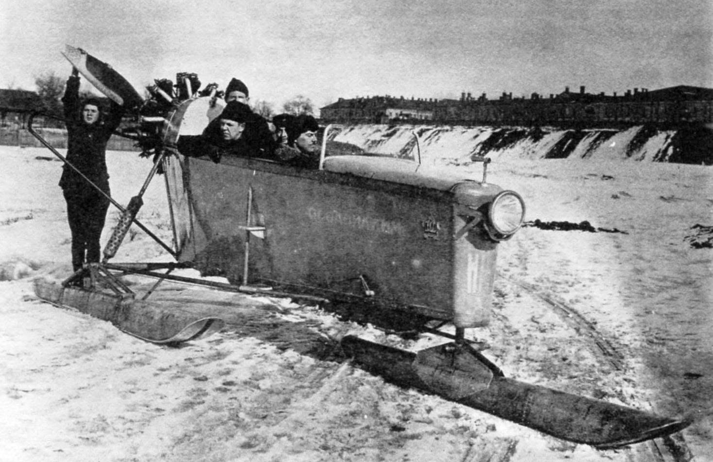 Аэросани НРБ-V участвовали в аэросанном пробеге в 1927 г.