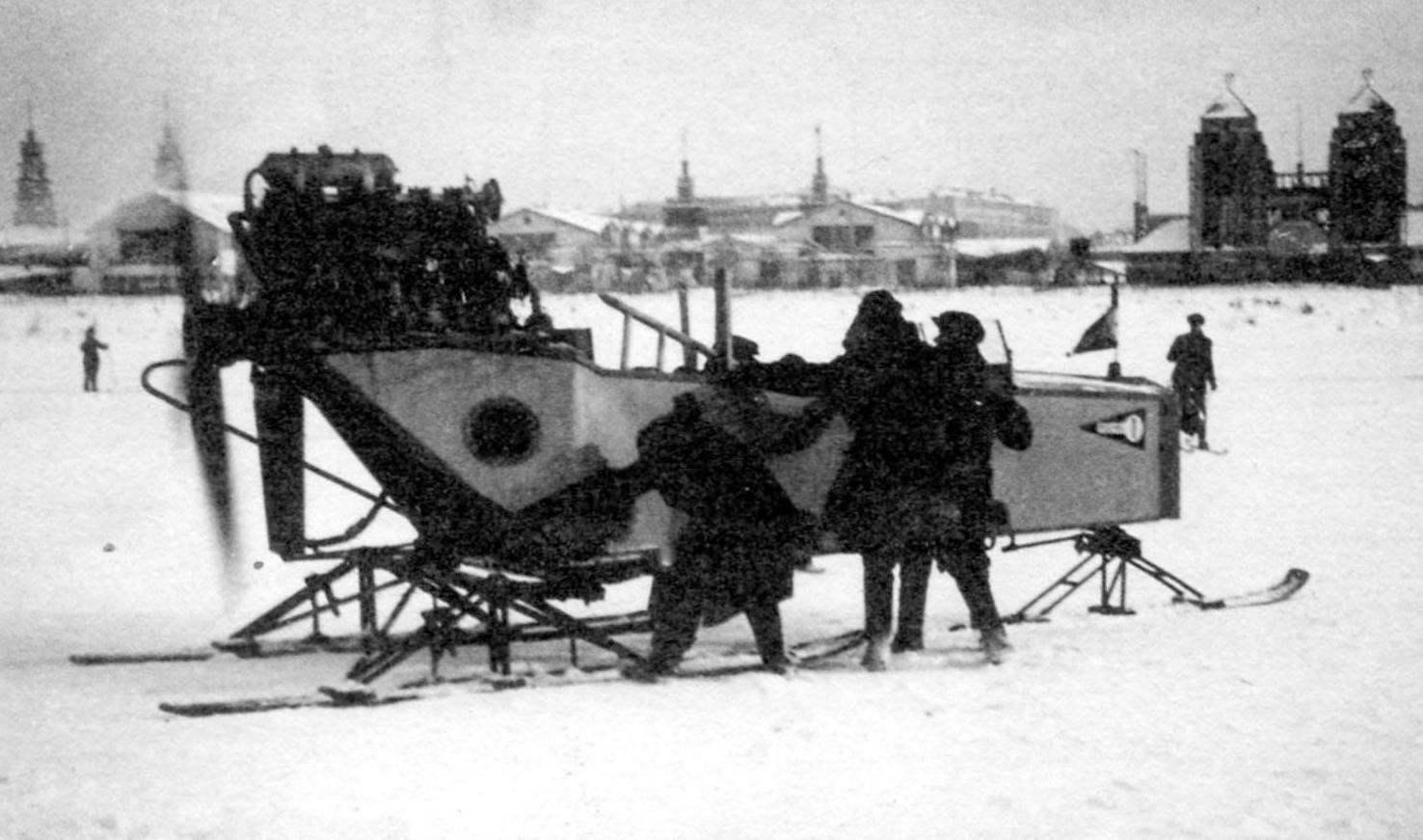 Аэросани Арбес-П, использовавшиеся московским учебным комбинатом «Автодора», после ремонта в НАМИ получили новый двигатель