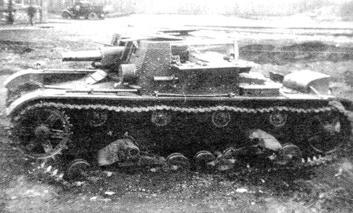 Артиллерийский танк АТ-1, спроектированный на шасси танка Т-26