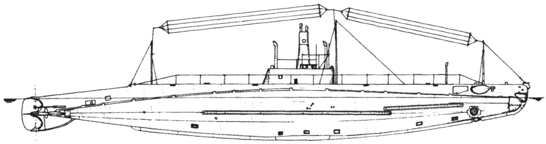 Подводная лодка «К-5» (SS-36) типа «К», США, 1914 г.