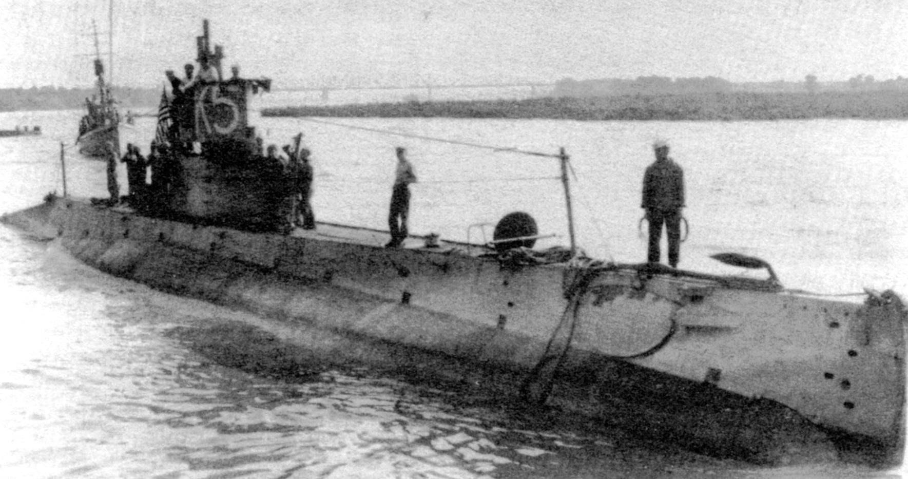 «К-5» в конце Первой мировой войны, с постоянным мостиком