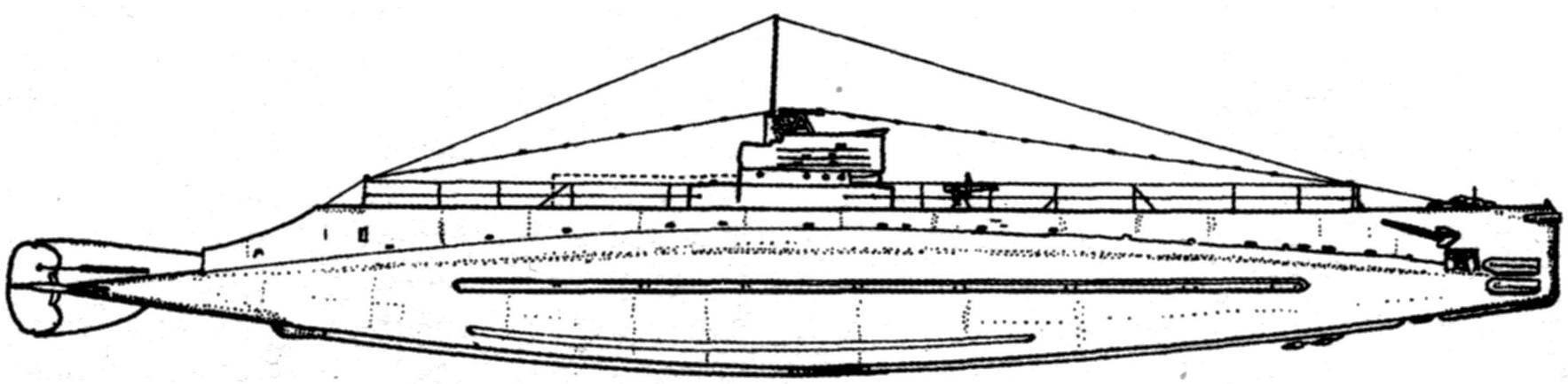 Подводная лодка «S-1» (SS-105) типа «S», США, 1919 г. (Проектный вариант)