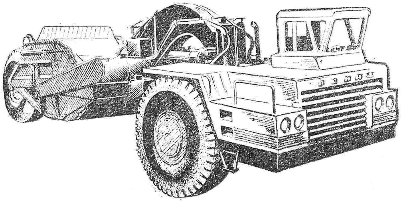 Рис. 2. Скрепер Д-392.