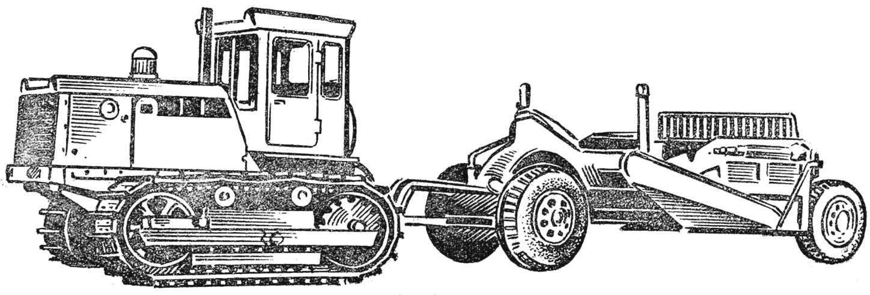 Рис. 4. Автоматизированный скрепер Д-498А.