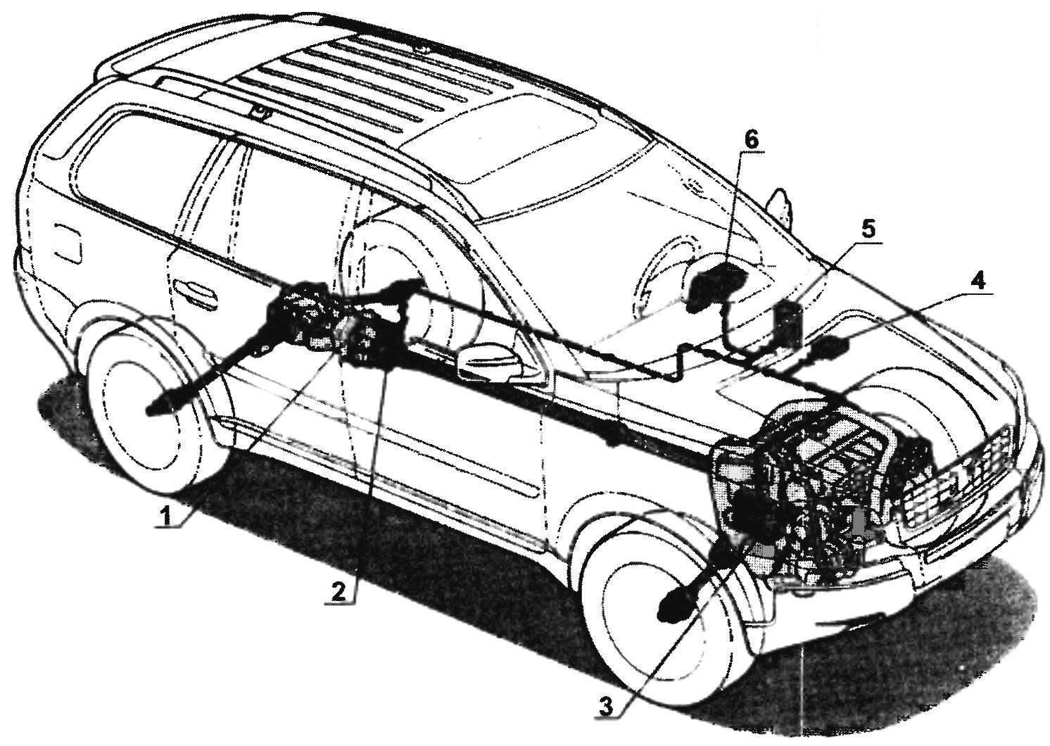 Схема трансмиссии VOLVO ХС90